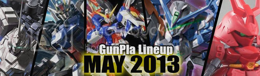 Monthly GunPla Line Up