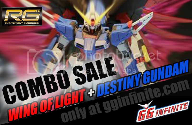 Destiny Gundam Combo Pack with wings of light real grade deal