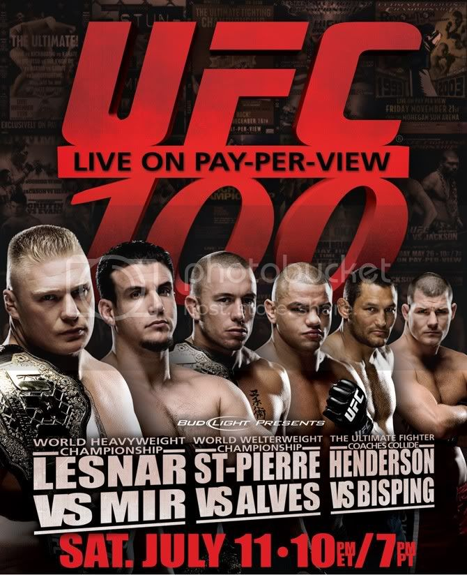 UFC 100 poster Pictures, Images and Photos